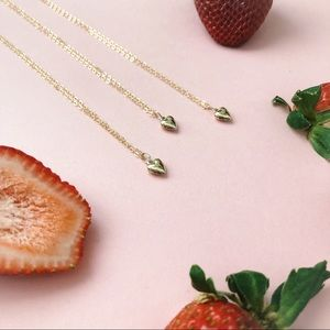 Jewelry - 14k Gold Filled 3D Heart Dainty Necklace